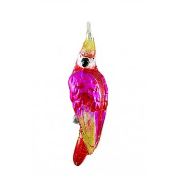 Елочная игрушка ручной работы «Розовый попугайчик», Komozja и Mostowski