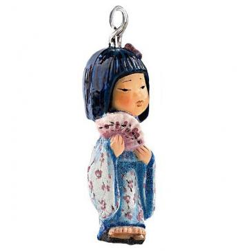 Елочная игрушка «Молодая Азия», ручная работа