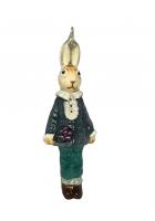 Елочная игрушка «Кролик с цветами»