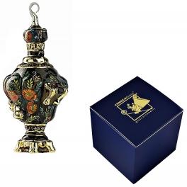 Стеклянная елочная игрушка «Русский самовар», размер 14х7 см