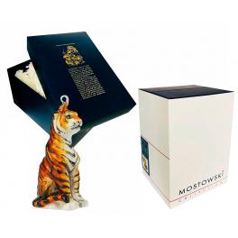 Елочная игрушка польского производства «Благородный тигр», символ 2022 года