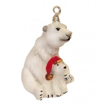 Елочная игрушка «Полярные медведи»