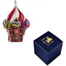 Стеклянная елочная игрушка «Храм», производство Польша