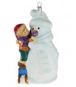 Елочная игрушка «Мальчик со снеговиком»