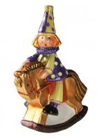 Елочная игрушка «Клоун на лошадке»
