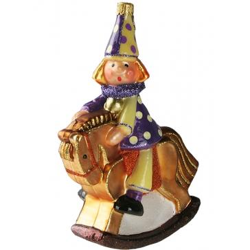 Елочная игрушка «Клоун на лошадке», Komozja Family, Польша