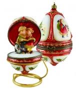 Новогодняя шкатулка — елочная игрушка «Рождественский хор»