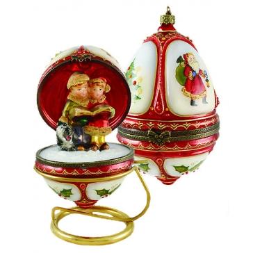Музыкальная новогодняя шкатулка — елочная игрушка «Рождественский хор»