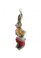 Елочная игрушка «Заяц плясун»
