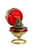 Елочная игрушка-яйцо «Рождественская ёлка»