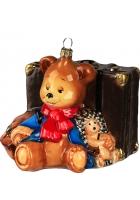 Елочная игрушка «Мишка турист»