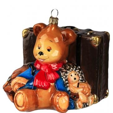 Елочная игрушка «Мишка турист», Komozja Family, Польша
