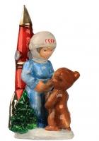 Елочная игрушка «Космонавт и мишка»