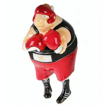 Елочная игрушка «Боксер», ручная работа