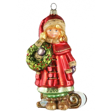 Елочная игрушка «Девочка с венком», Komozja Family, Польша