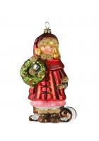 Елочная игрушка «Девочка с венком»
