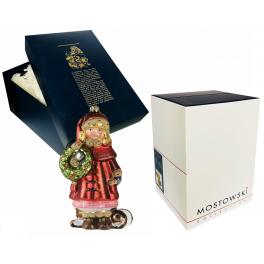 Стеклянная елочная игрушка «Девочка с венком», Komozja и Mostowski