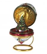 Елочная игрушка-яйцо «Зимний лес»