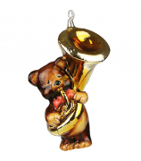 Елочная игрушка «Мишка трубадуй»