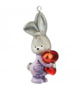 Елочная игрушка «Зайка в пижаме»