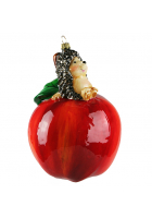 Елочная игрушка «Ёжик на яблочке»