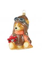 Елочная игрушка «Мишка-авиатор»