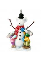 Елочная игрушка «Снежная мышь»