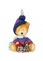 Елочная игрушка «Мишка с паровозиком»