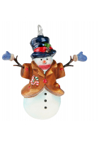 Елочная игрушка «Снеговик в рукавичках»