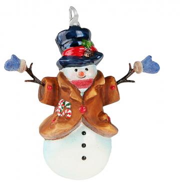 Елочная игрушка «Снеговик в рукавичках», производство Польша
