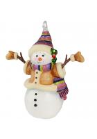 Елочная игрушка «Снеговичка в рукавичках»