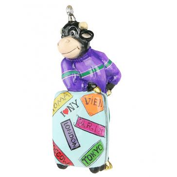 Елочная игрушка в виде символа 2021 года «Мистер Булл»