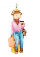 Елочная игрушка «Миссис Булл»