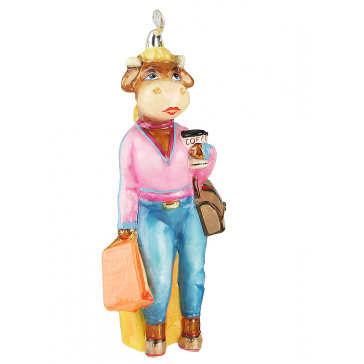 Забавная елочная игрушка «Миссис Булл», Komozja Family