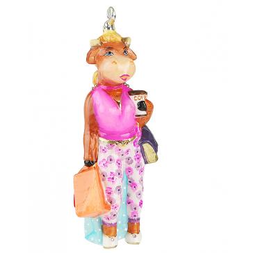 Забавная игрушка на елку «Миссис Булл», Komozja Family