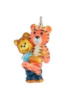 Елочная игрушка «Медвежонок с тигром»