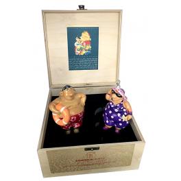 Набор из 2-х елочных игрушек «На курорте», ручная работа