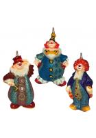 Набор елочных игрушек «Веселые клоуны»