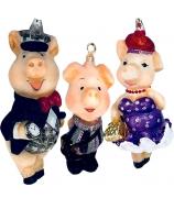 Набор елочных игрушек «Три поросёнка»