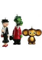 Набор коллекционных елочных игрушек «Крокодил Гена и его друзья»