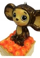 Елочная игрушка «Чебурашка и апельсины»