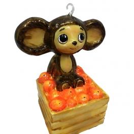 Елочная игрушка «Чебурашка и апельсины» в подарочном ларце