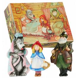 Набор стеклянных елочных игрушек «Красная шапочка», Komozja Family, Польша