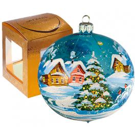 Стеклянный ёлочный шар «Ёлка», диаметр 10 см, Россия