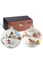 Набор ёлочных шаров «Зимняя акварель»