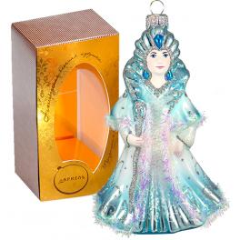 Коллекционная ёлочная игрушка «Снежная королева», ручная роспись