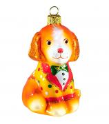 Ёлочная игрушка «Цирковая собачка»