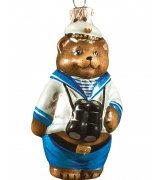 Ёлочная игрушка «Мишка – моряк»