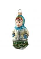 Ёлочная игрушка «Девочка в кокошнике»