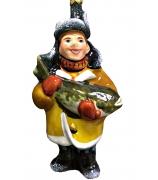 Ёлочная игрушка «Рыбак с налимом»